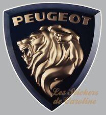 STICKER LOGO PEUGEOT LION AUTOCOLLANT INSIGNE MARQUE AUTO GARAGE PA374