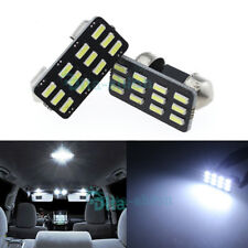 2Pcs Super Bright White 12 SMD LED Festoon 25mm Dome Map Reading Door Light
