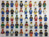 5 LEGO CITY MINIFIGS LOT random bulk town workers figures w/ five accessories