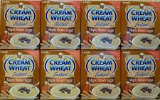 (8) CREAM OF WHEAT INSTANT HOT CEREAL MAPLE BROWN SUGAR FLAVOR W/ IRON