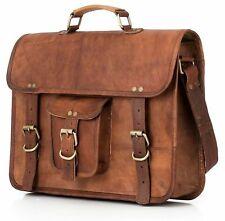 Men's Genuine Vintage Brown Leather Messenger Shoulder Laptop Bag Computer
