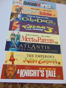 ORIGINAL MOVIE BANNERS FROM AMC THEATRE