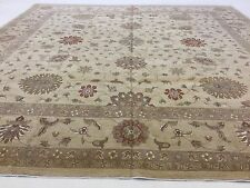 16 x 16 Square Brown Ziegler Persian Oriental Area Rug Hand Knotted Wool