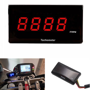 Digital Square LCD Display Engine Tach Hour Meter Tachometer for Racing Motorcyc