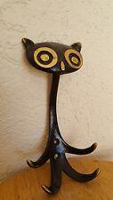 1960s WALTER BOSSE Mid Century Modern Casting MCM Bronze Owl Wall Hook Germany