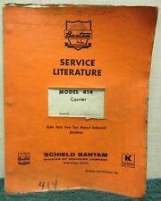 Schield Bantam Carrier Model 414 Service Manual