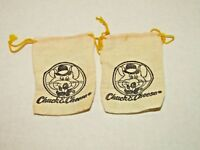 Vintage Chuck E Cheese Coin Bags Burlap Drawstring Mouse Set Of 2 1970's