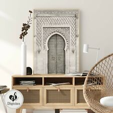 Boho Moroccan Door Wall Art Print. Fine art, Neutral, Door, Bohemian Home art