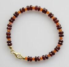 Granat-Armband - Granat mit Karneol facettiert Armband für Damen 19,5 cm