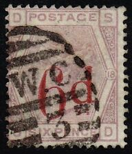 Victoria 1883 6d. on 6d. lilac (plate 18), used (SG#162)