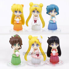 SAILOR MOON - SET 6 FIGURAS / WEDDING DRESSES VERSION / 6 FIGURES SET 6cm