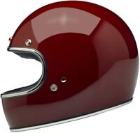 Biltwell Gringo DOT / ECE FULL FACE Motorcycle Helmet - Gloss Garnet M Medium