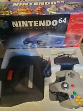 Nintendo 64 N64 Black Console Complete In Box Tested & Working expansion pak