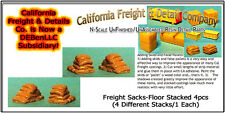 Freight Sacks-Floor Stacked (4pcs) N/1:160-Scale Craftsman Cal Freight & Details