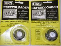 2 Pack HKS 586-A Speed Loader 357 mag fits S&W 586 Magnum Ruger GP100 NEW