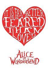 Alice in Wonderland Heart Quote - Typography quote Decorative Vinyl Wall Sticker