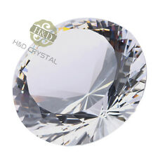 100mm Clear Crystal Glass Diamond Paperweight Wedding Table Decorations With Box