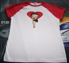 Betty Boop Ladies White Short Sleeve T Shirt Size 16 New