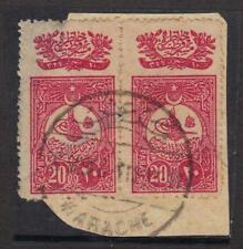 TURKEY 1915 MARACHE CANCEL ON PAID 10PARA OTTOMAN STAMP MARACHE IS A SMALL VILLG