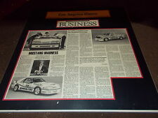1988 SALEEN FORD MUSTANG RANGER LOS ANGELES TIMES ORIGINAL DEALERSHIP DISPLAY PR