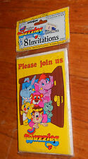 Vtg 1985 Hasbro Disney Pack of 8 Wuzzles Party Invitations Cards Envelopes