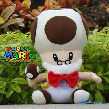 "Super Mario Bros Plush Toy Toad Toadsworth 10"" Cuddly Stuffed Animal Soft Doll N"