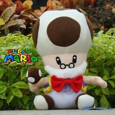 "Super Mario Bros Plush Toy Toad Toadsworth 10"" Cuddly Stuffed Animal Soft Doll"