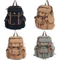 Unisex Women's Men's Vintage Hobo Handbag Rucksack Backpack Canvas Leather Bags
