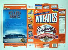 RARE 1996 Wheaties Atlanta Braves Champs World Series FLAT  - FLASH SALE