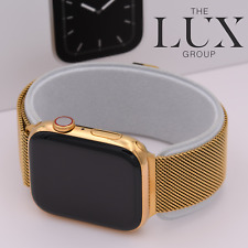 24K Gold Plated Apple Watch Series 5 with 24k Gold Milanese 44mm Band free Sport