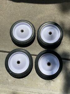 """Vintage Radio Flyer Town & Country 4 pc wheel set 9 1/2"""" preowned"""