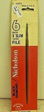 "Nicholson 6"" X Slim Taper File 21873 Extra Slim Taper *USA MADE*   BLACK DIAMOND"