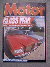 Motor (3 Aug 1985) Bentley Turbo R v Mercedes 500SEL, Lola T900 , Uno, Alfa,SEAT