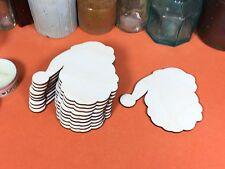 WOODEN BLANK SANTA FATHER CHRISTMAS Shape 8cm (x10) laser cut  wood shapes