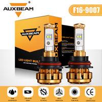 AUXBEAM 9007 HB5 LED Headlight Kit HI-LO Dual Beam Bulbs 5000LM 6500K F-16