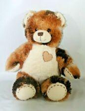"Build a Bear Plush Champ Calico Bear w/ Patch Heart 16"" Stuffed Animal"