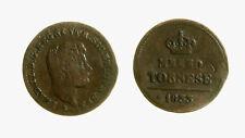 pcc2137_95) Regno delle Due Sicilie Ferdinando II 1/2 Tornese 1833 DIFETTI raro