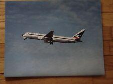 DELTA AIR LINES - LARGE PHOTO - 767 IN FLIGHT - VINTAGE WIDGET LOGO  20 X 16