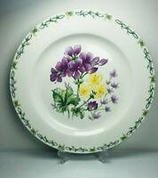 "Thomson Pottery Floral Garden Chop Plate Platter Round Geraniums Serving 12"" Dia"