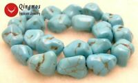 """20-30mm Blue Baroque Natural Turquoise Loose Beads for Jewelry Making Strand 15"""""""