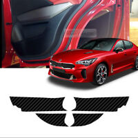 Carbon Door Decal Sticker Cover Kick Protector For KIA 2017 2018 2019 Stinger
