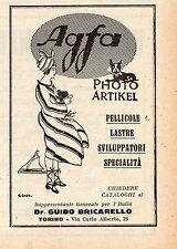 Pubblicità vintage foto Agfa film fotografia werbung old advertising reklame A4