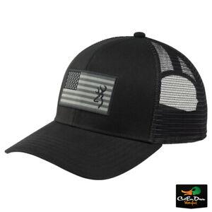 NEW BROWNING GLORY CAP BUCKMARK USA FLAG LOGO MESH BACK TRUCKER HAT