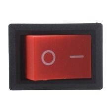 20 pezzi x Rosso Button 2 Pin SPST ON-OFF Mini Boat interruttore a bilancie G3L4