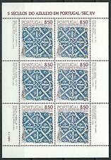 Portugal - Azulejos (I) Kleinbogen postfrisch 1981 Mi. 1528