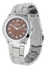 s.Oliver Damen Armbanduhr silber SO-15023-MQR