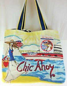 Brighton Chic Ahoy Star Light Canvas Tote Bag NWT All a Chic Needs Pocket
