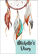 2018 diary personalised dreamcatcher feathers A5