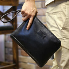 New Mens Fashion Leather Business Clutch Bag Handbag Briefcase Wallet Tot Gift