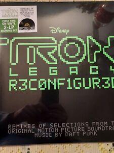 RARE 2LP ALBUM VINYL GREEN RSD 2020 DAFT PUNK TRON : LEGACY RECONFIGURED (NEUF)